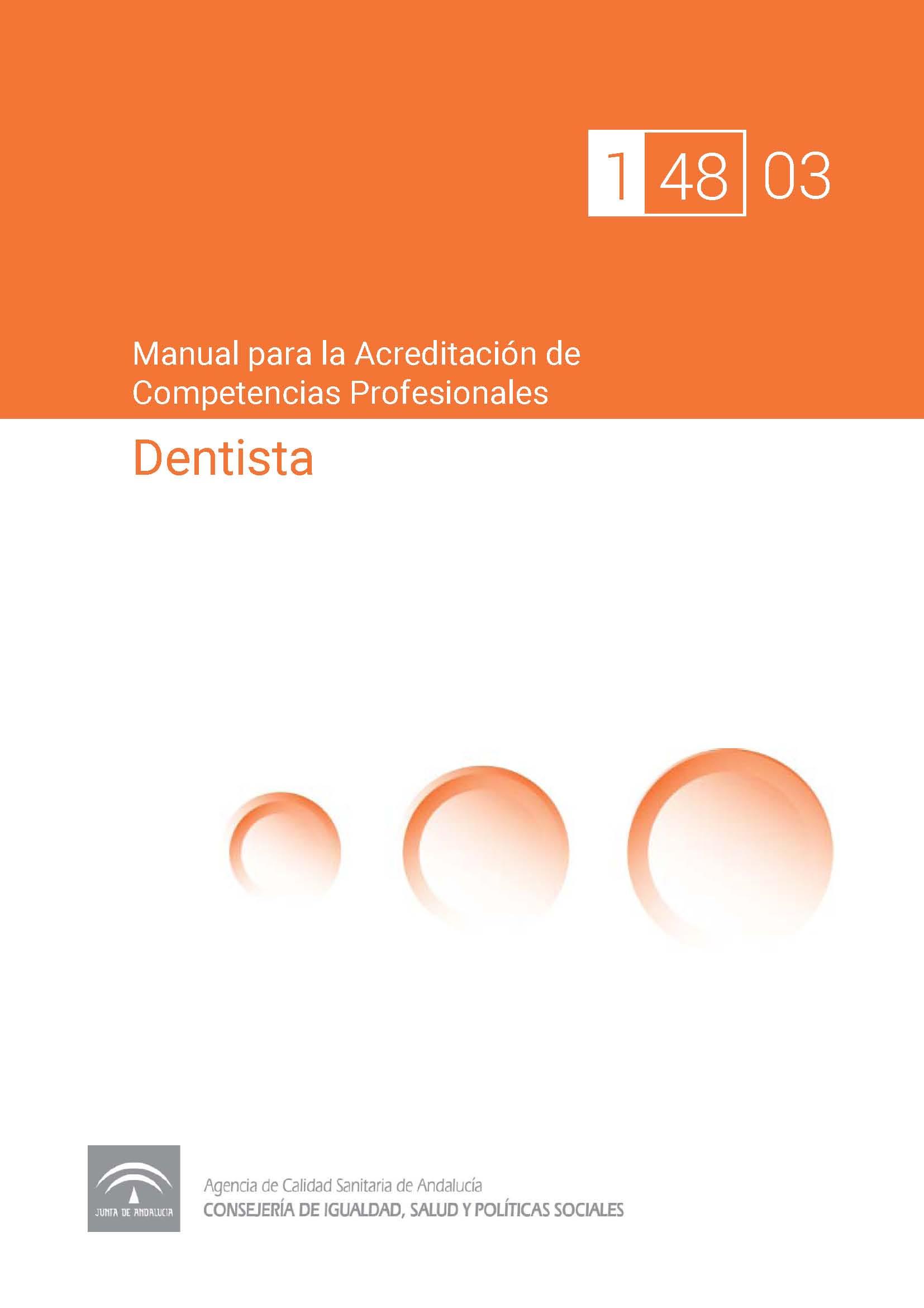 Manual de competencias profesionales del/de la Dentista