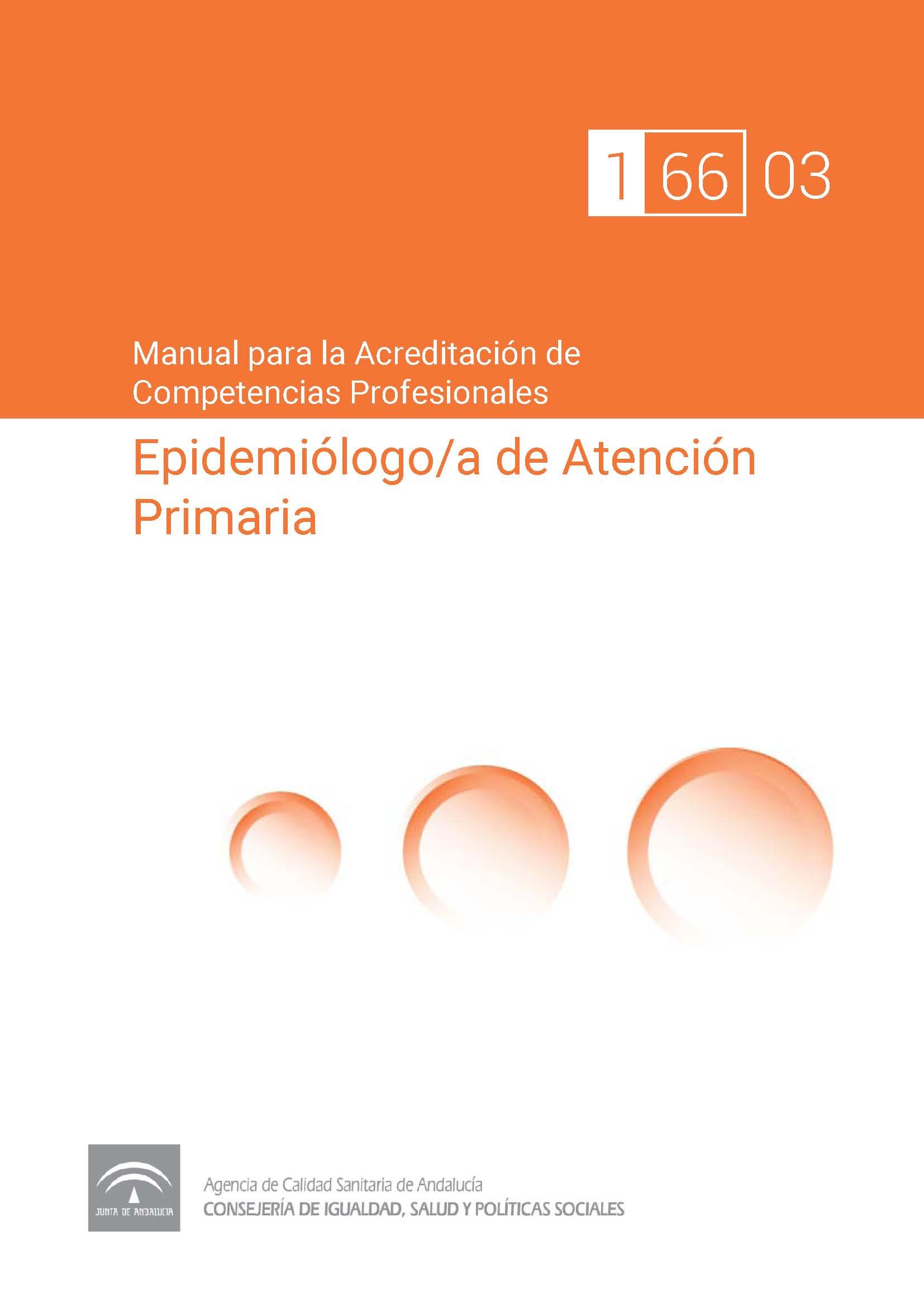 Manual de competencias profesionales del/de la Epidemiólogo/a de Atención Primaria
