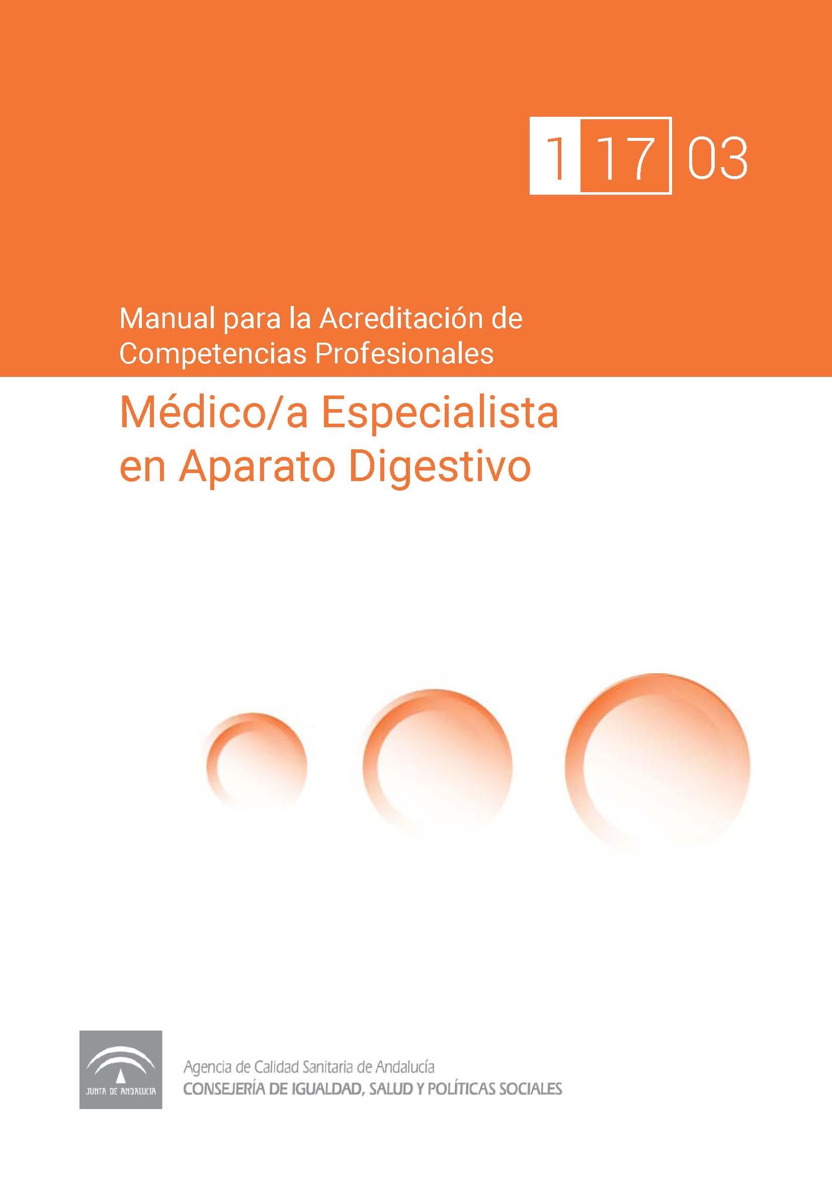 Manual de competencias de profeesionales del/de la Médico/a Especialista en Aparato Digestivo