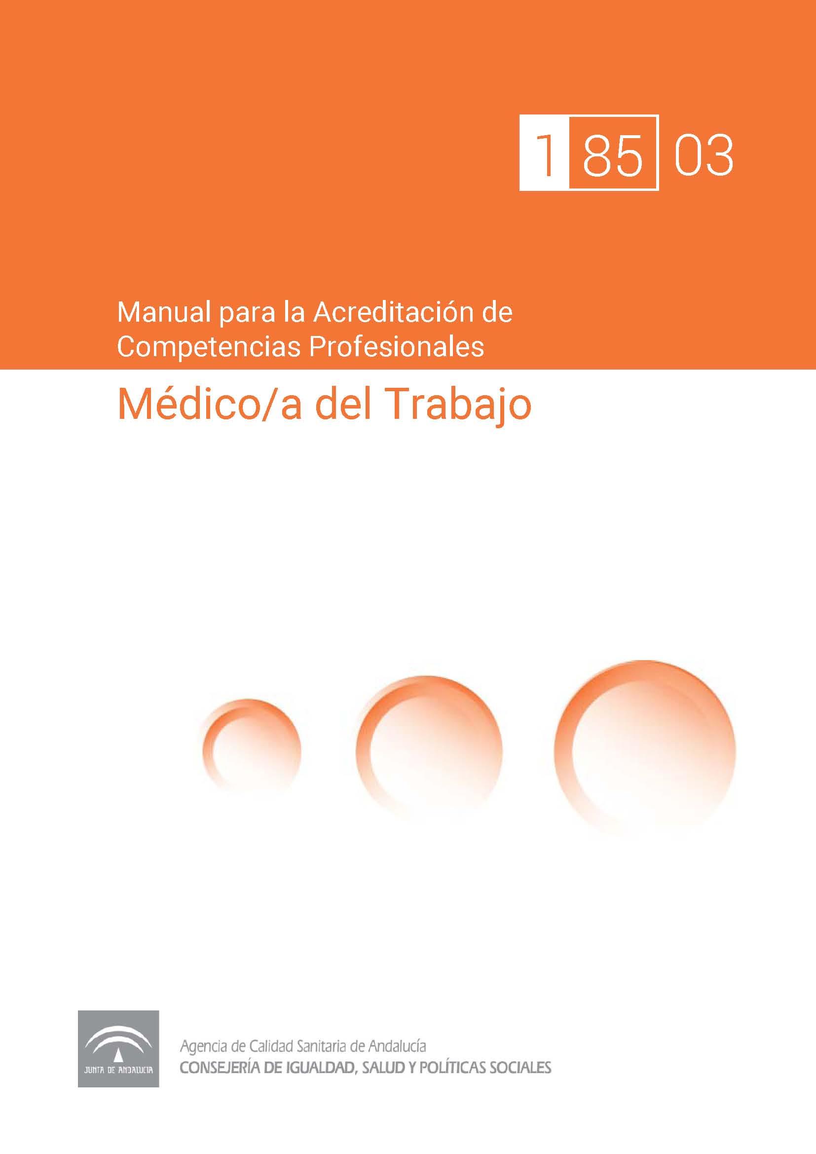 Manual de competencias profesionales del/de la Médico/a del Trabajo
