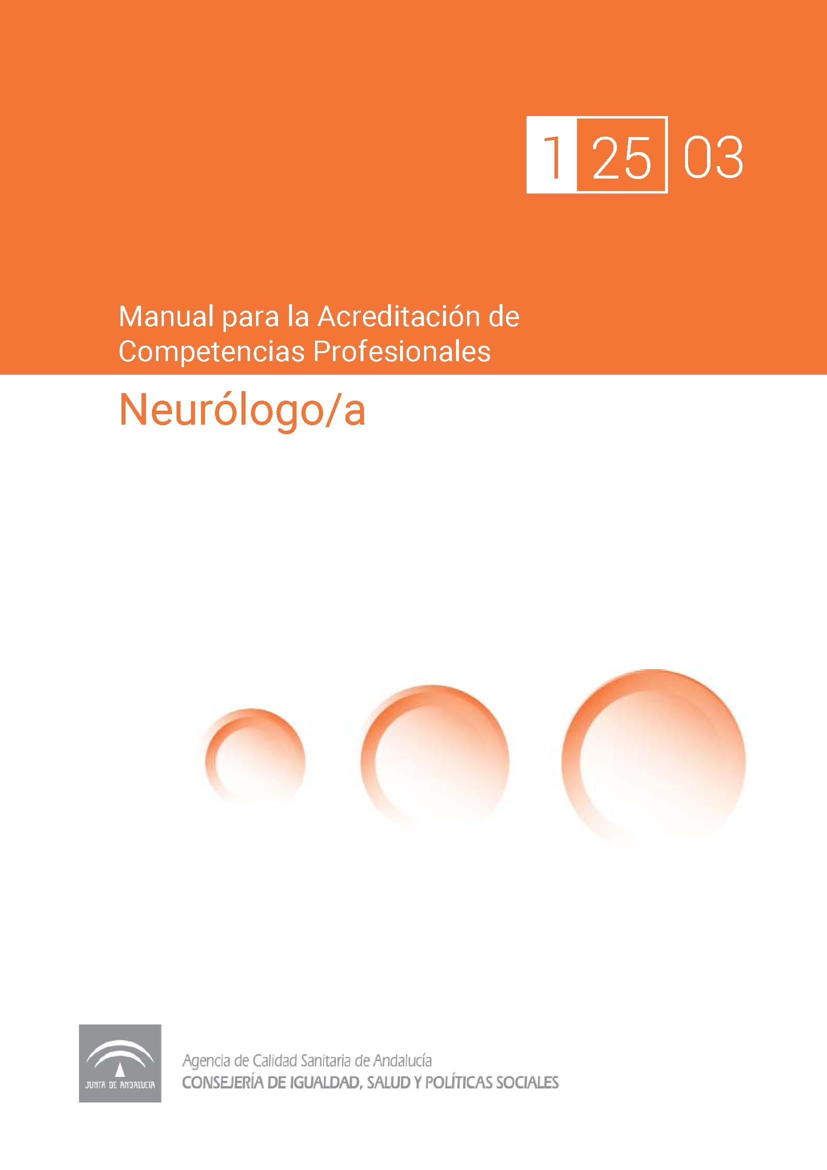 Manual de competencias profesionales del/de la Neurólogo/a
