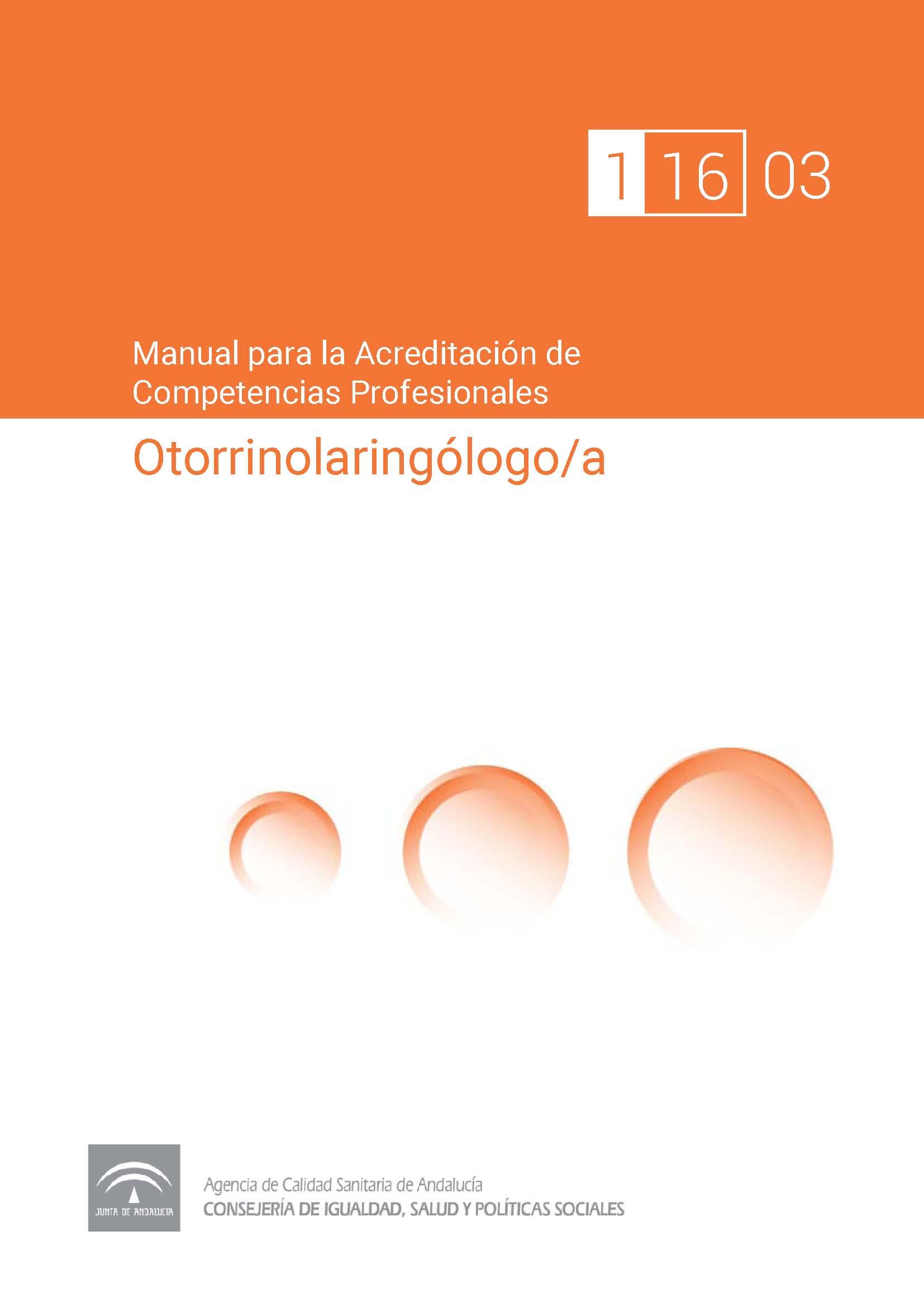 Manual de competencias profesionales del/de la Otorrinolaringólogo/a