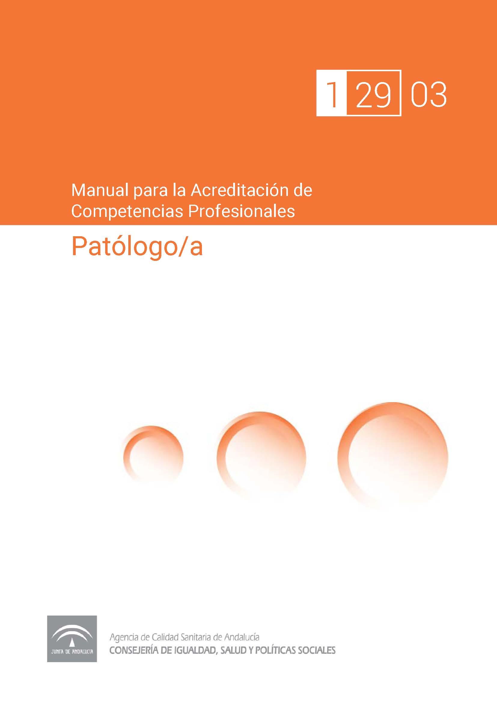 Manual de competencias profesionales del/de la Patólogo/a
