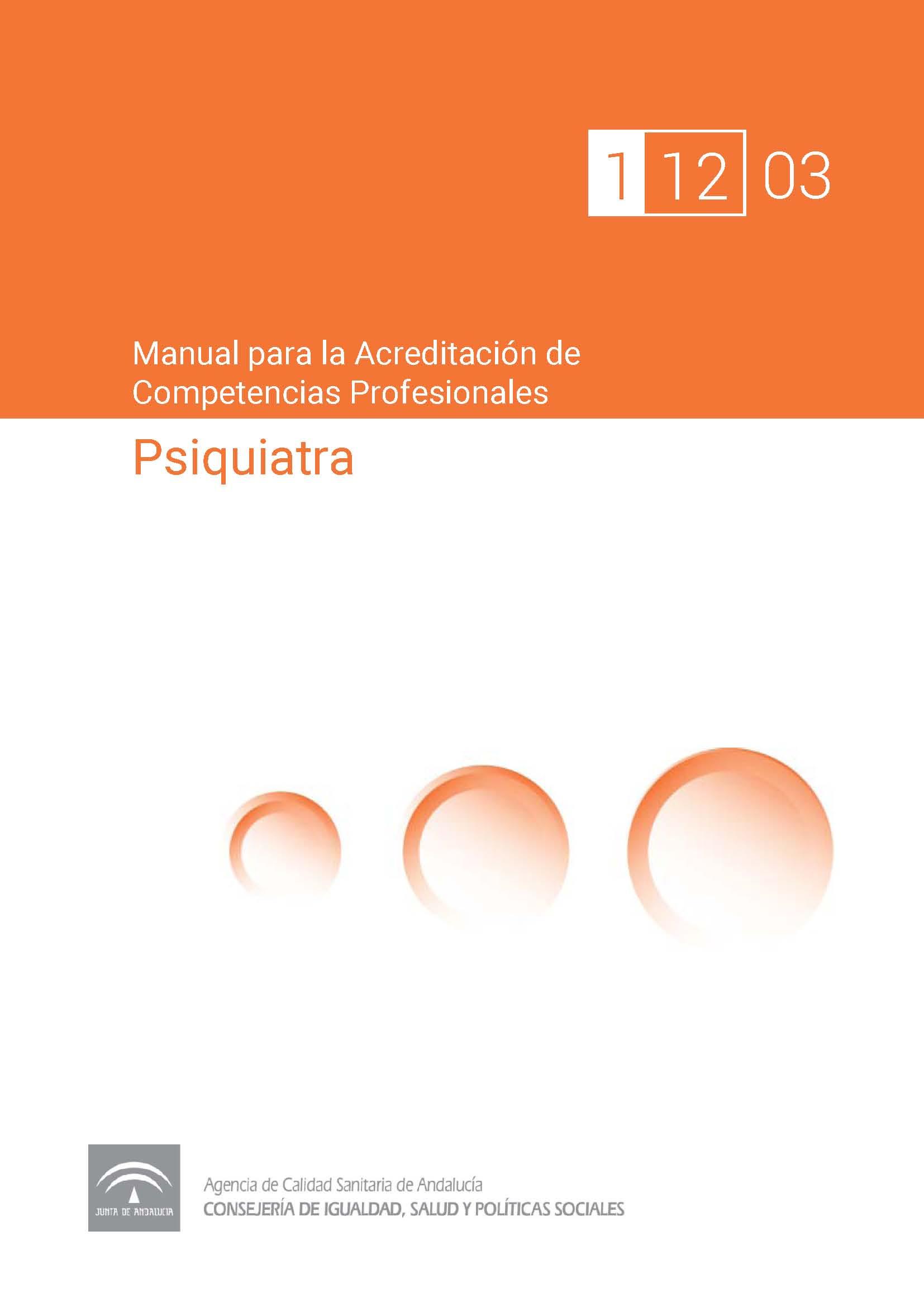 Manual de competencias profesionales del/de la Psiquiatra