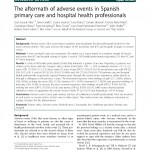 The aftermath of adverse events in Spanish primary care and hospital health professionals