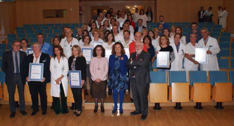 Entrega certificación a 20 unidades del Área de Gestión Sanitaria sur de Sevilla