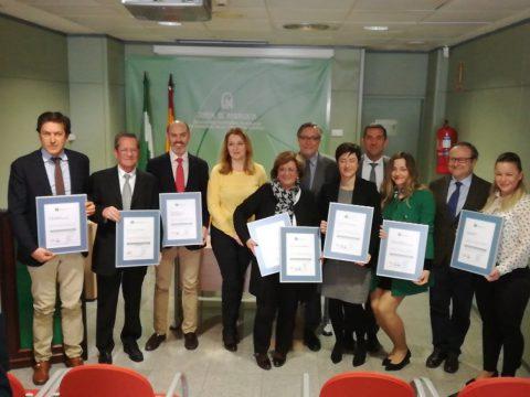 Entrega certificación 8 centros provincia Málaga 090318