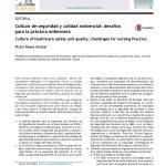 Cultura de seguridad y calidad asistencial: desafíos para la práctica enfermera
