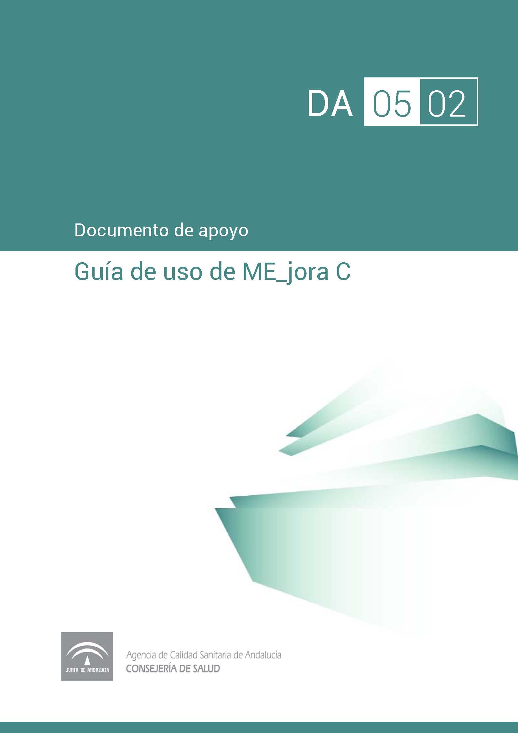 Guía de uso de la aplicación informática ME_jora C