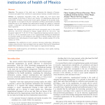 Determinants of Organizational Learning in Institutions of Health of Mexico