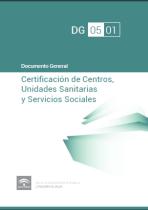 Documento general de Certificación de Centros, Unidades Sanitarias y Servicios