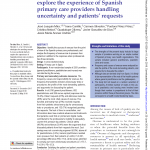Drivers and strategies for avoiding overuse. A cross-sectional study to explore the experience of Spanish primary care providers handling uncertainty and patients' requests