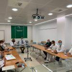 El equipo directivo del Hospital Universitario Virgen de la Victoria participa en una sesión sobre calidad asistencial