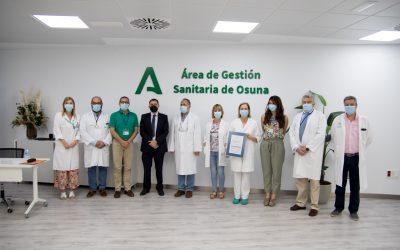La unidad de Anatomía Patológica del Área de Gestión Sanitaria Osuna recibe la certificación de la Agencia de Calidad Sanitaria de Andalucía