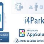 Distintivo Appsaludable para la app i4Park, diario de síntomas de Parkinson