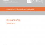 Informe sobre desarrollo competencial en cirujanos/as (2006-15)