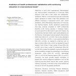 Predictors of health professionals' satisfaction with continuing education: A cross-sectional study