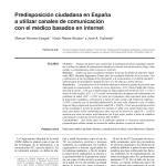 Predisposición ciudadana en España a utilizar canales de comunicación con el médico basados en internet