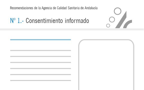 Recomendación de calidad – El consentimiento informado en unidades y centros asistenciales