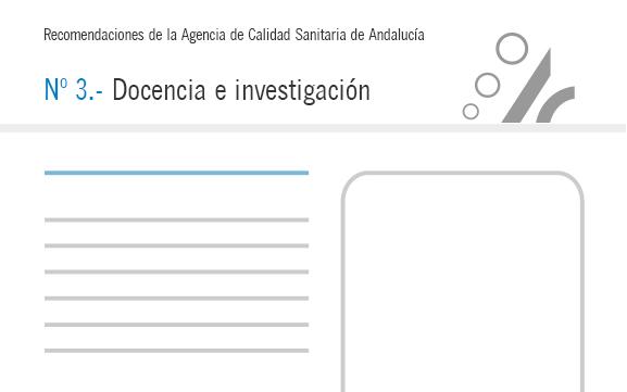 Recomendación nº 3. Docencia e investigación