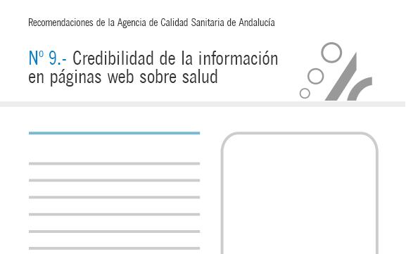 Recomendación de calidad – Credibilidad de la información en páginas web sobre salud