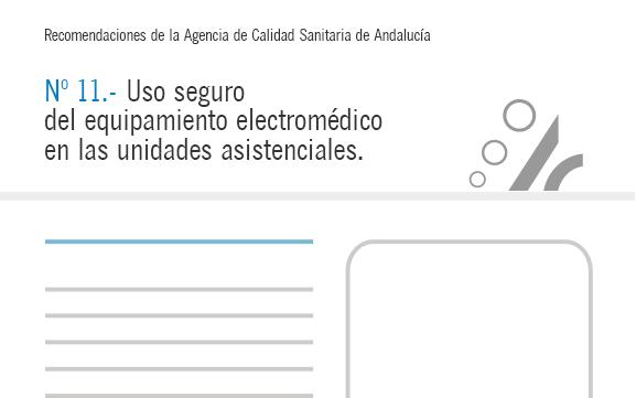 Recomendación nº 11. Uso seguro del equipamiento electromédico en las unidades asistenciales