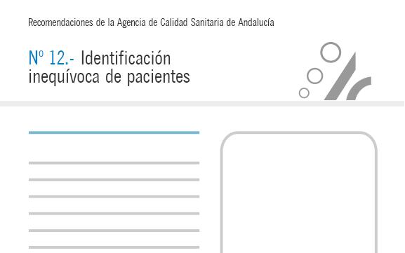 Recomendación nº 12. Identificación inequívoca de pacientes