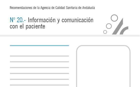 Recomendación nº 20. Información y comunicación con el paciente
