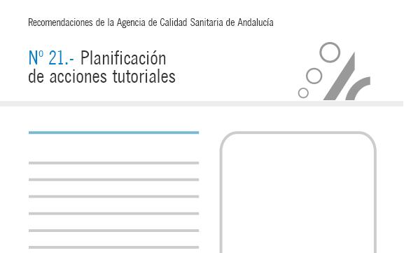 Recomendación nº 21. Planificación de acciones tutoriales