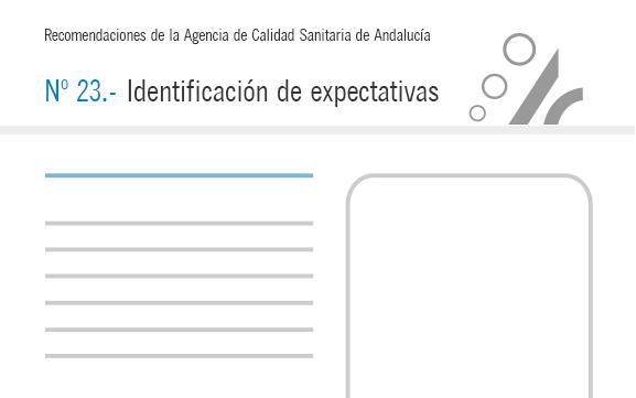 Recomendación nº 23. Identificación de expectativas