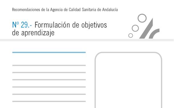 Recomendación nº 29. Formulación de objetivos de aprendizaje