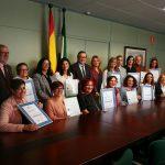 Entrega de certificación de calidad a centros de servicios sociales y a un CAIT en Málaga