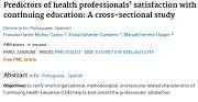 Nuevo artículo publicado en la Revista Latino-Americana de Enfermagem sobre satisfacción de los profesionales de la salud con la formación continuada