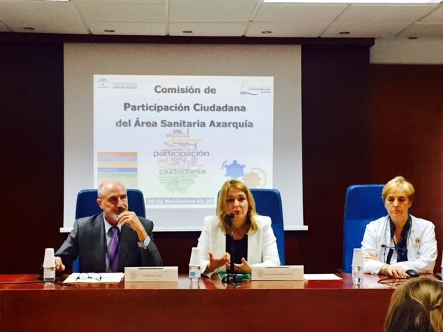 La delegada de Salud preside la Comisión de Participación Ciudadana del Área