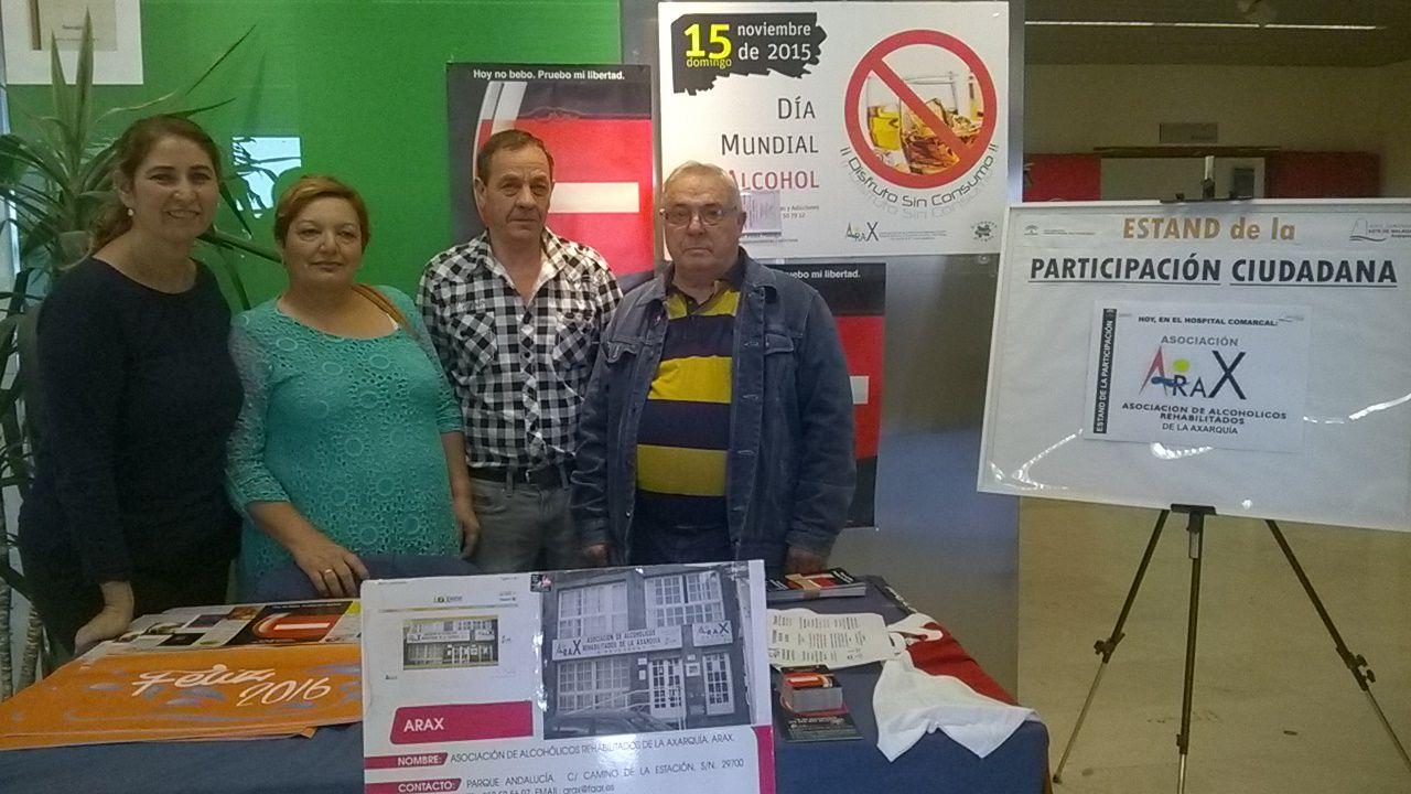 El Área Sanitaria Este de Málaga-Axarquía colabora con la Asociación de Alcohólicos Rehabilitados de la Axarquía en la promoción del Día Mundial sin Alcohol