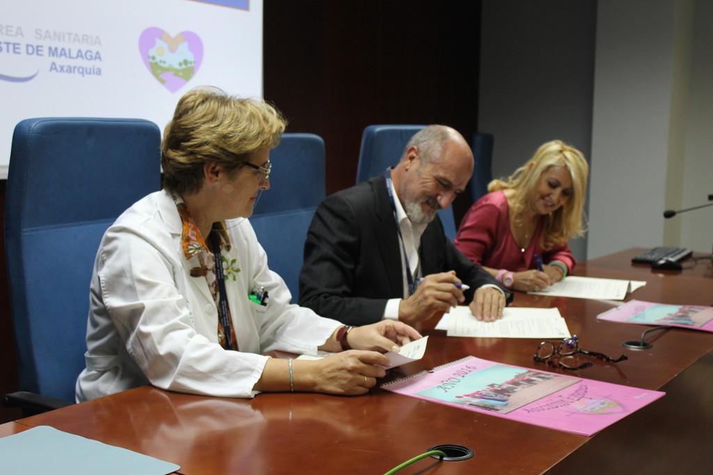 El Área Sanitaria Axarquía y la Asociación Esperanza colaboran para mejorar la atención a mujeres con cáncer de mama