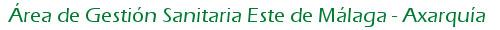 Logo Área de Gestión Sanitaria Este de Málaga - Axarquía