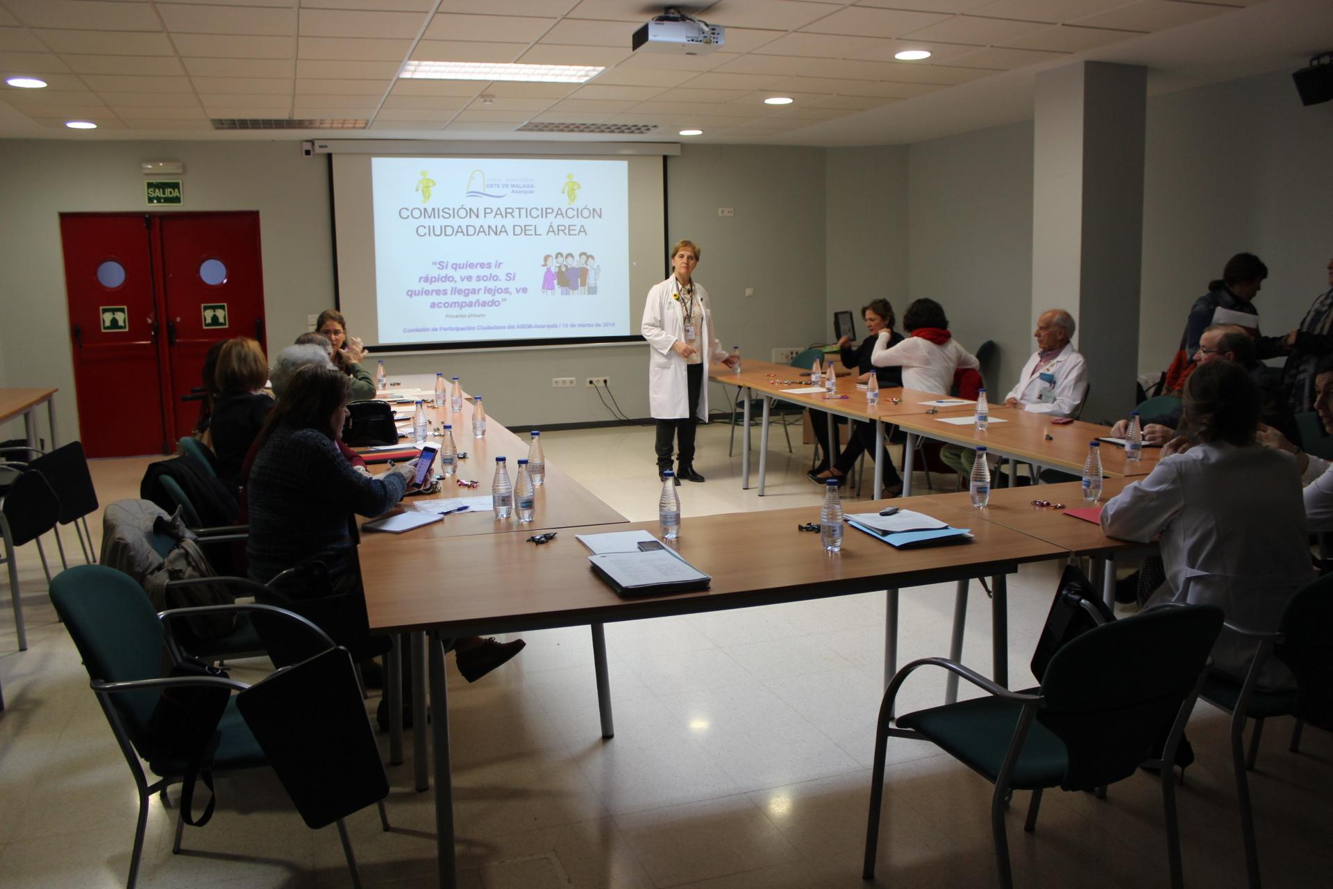 La Comisión de Participación Ciudadana del Área Sanitaria Axarquía establece las líneas de trabajo para 2016