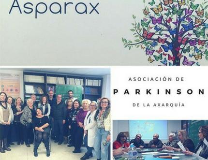 El Área Sanitaria recibe a Asparax, Asociación de enfermos y familiares de Parkinson de la Axarquía