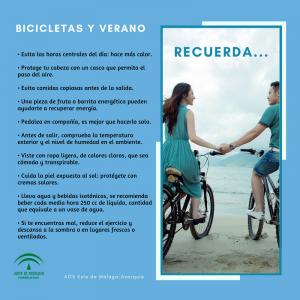 Recomendaciones en el Uso de la Bicicleta en Verano
