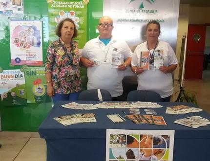 El Área Sanitaria Este de Málaga-Axarquía colabora con la Asociación para la Lucha Contra las Enfermedades Renales en la promoción del Día Nacional del Donante de Órganos