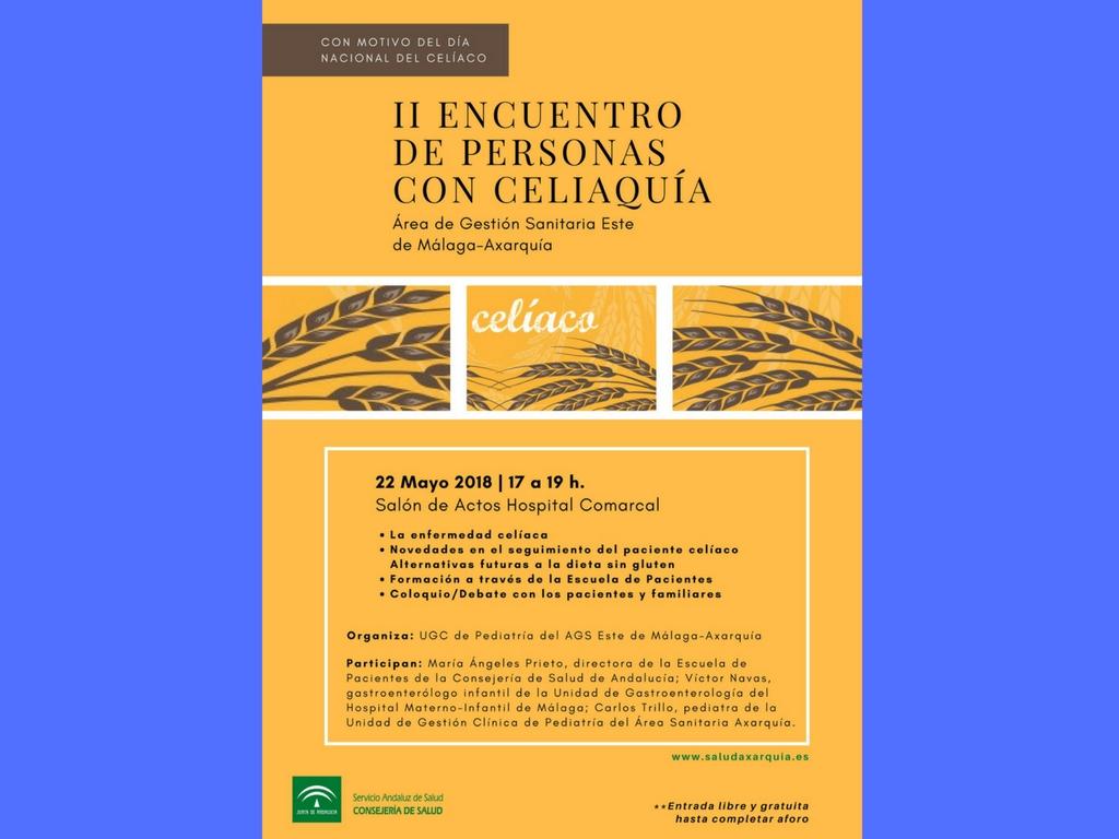 El II Encuentro de Personas con Celiaquía se celebra el próximo 22 de mayo