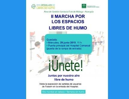 El Área Sanitaria celebra la Semana Sin Humo 2019