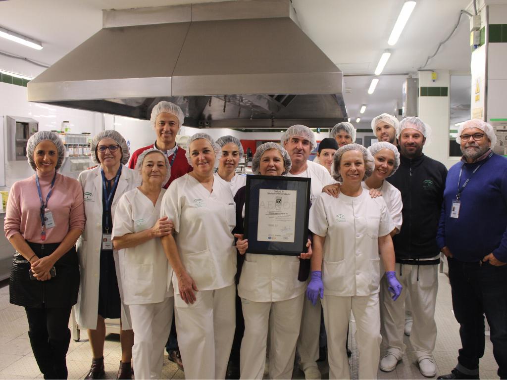 El servicio de Cocina del Hospital de la Axarquía renueva la ISO 9001:2015