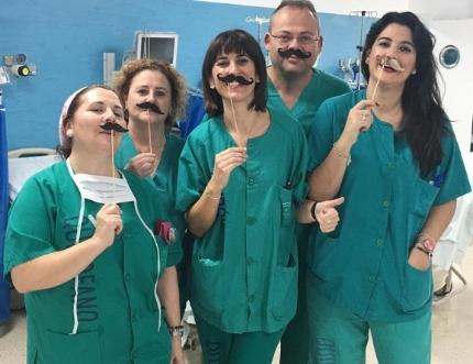 Profesionales del Área Sanitaria Málaga-Axarquía se adhieren al movimiento Movember