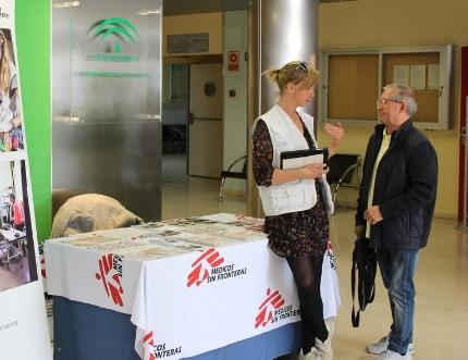 Médicos Sin Fronteras visita nuestro Estand de Participación Ciudadana