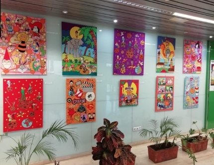Antonio Tello presenta en el Hospital Comarcal su obra 'Fantase…Art'