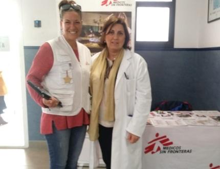 Médicos Sin Fronteras visita el centro de salud de Torre del Mar