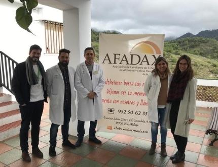 Afadax visita el consultorio de Frigiliana