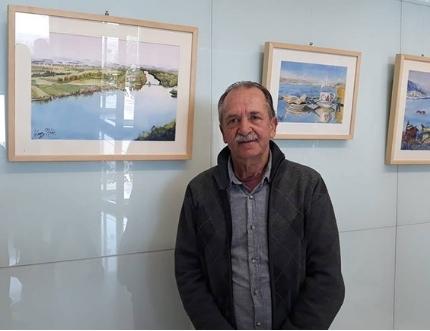 El Hospital Comarcal de la Axarquía acoge la exposición 'Luces del Mediterráneo' de Gabriel Gómez, integrante de la Agrupación de Acuarelistas de Málaga
